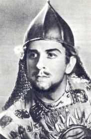 "Ivan Ivanovich Petrov (Krause) - Ruslan, from the opera ""Ruslan and Lyudmila"", music. M.I. Glinka. The photo. (Иван Иванович Петров (Краузе) - Руслан, из оперы ""Руслан и Людмила"", муз. М.И. Глинки. Фотография.) (Belyaev)"