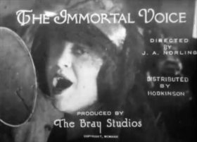 The Immortal Voice (1923) - how phonograph records are made - piano score by Ben Model (Plastmass)