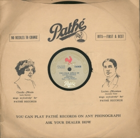 Pathé Frères Phonograph Co. sleeve (Конверт Pathé Frères Phonograph Co.) (bernikov)